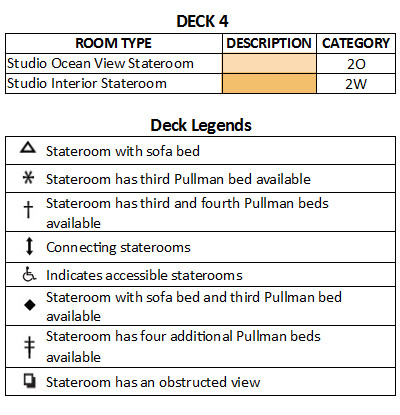 Harmony of the Seas Deck 4 plan keys