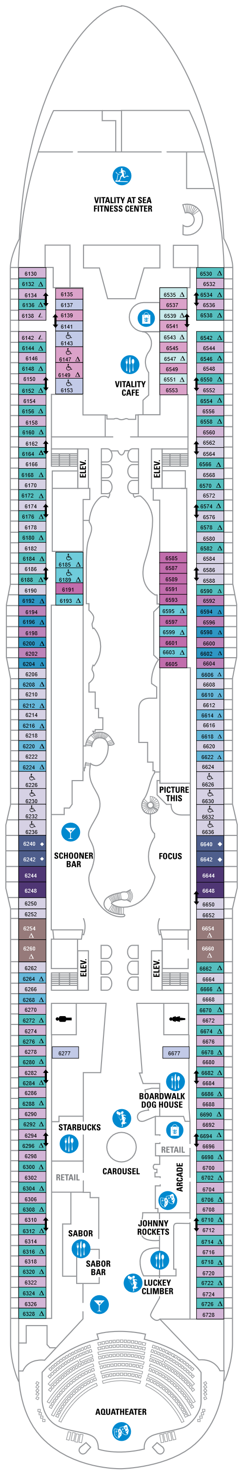 Harmony of the Seas Deck 6 layout
