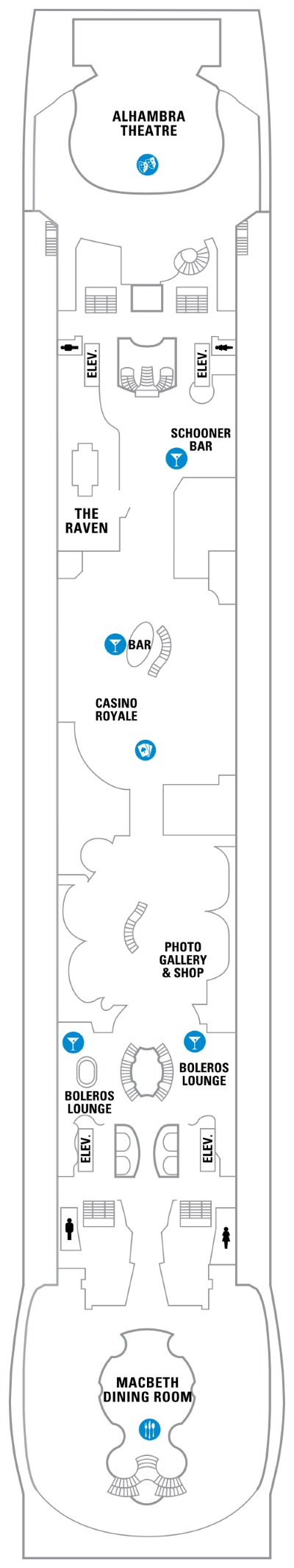 Independence Of The Seas Deck 4 layout