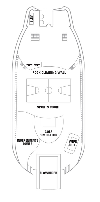 Independence Of The Seas Deck 13 layout