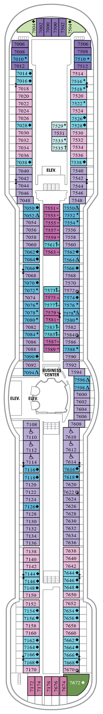 Jewel Of The Seas Deck 7 layout