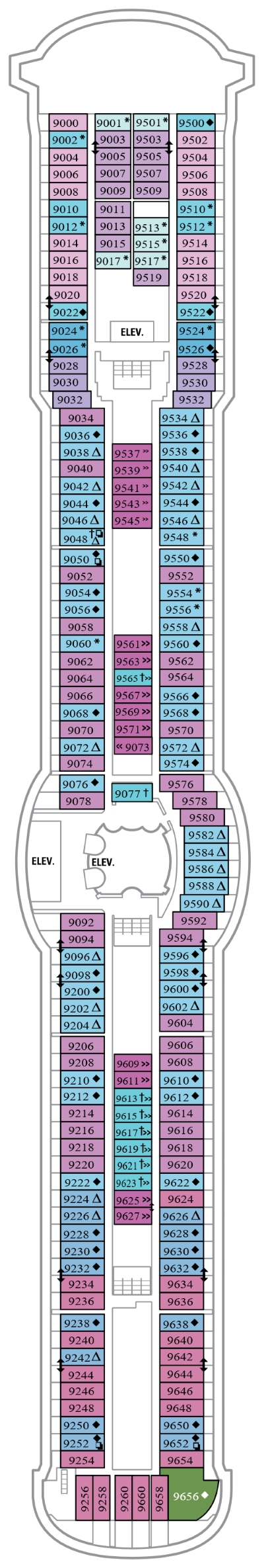 Jewel Of The Seas Deck 9 layout