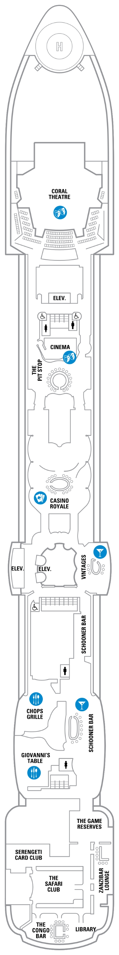Jewel Of The Seas Deck 6 layout