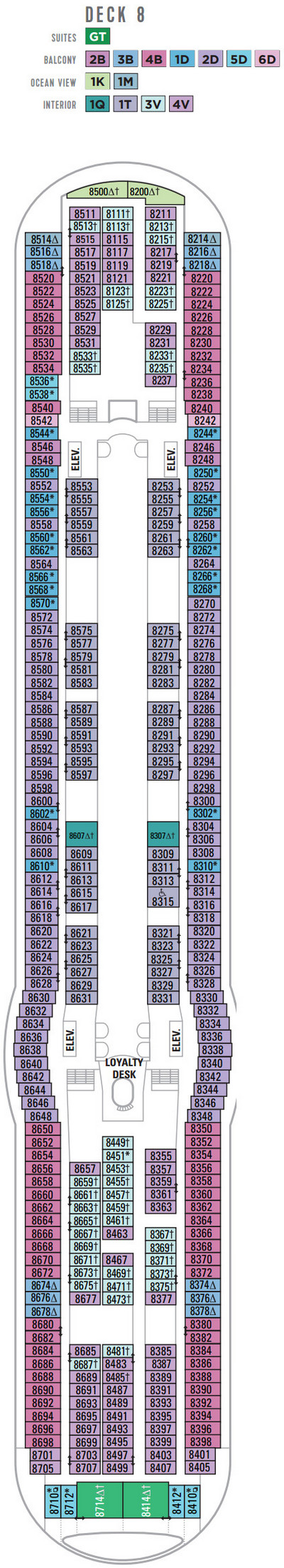 Liberty Of The Seas Deck 8 layout