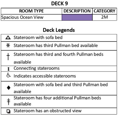 Majesty Of The Seas Deck 9 plan keys