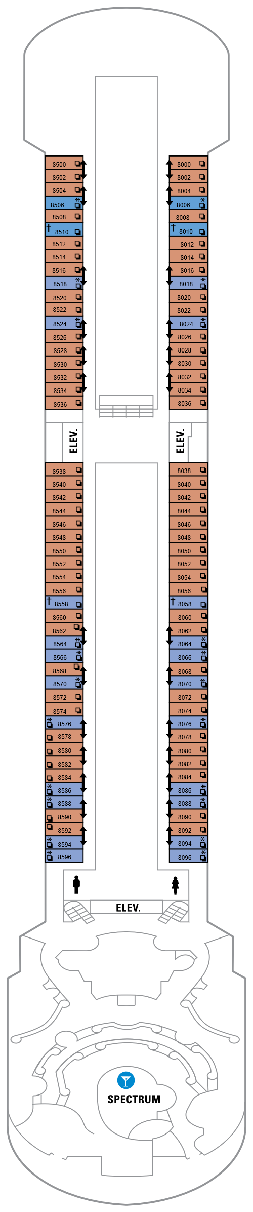 Majesty Of The Seas Deck 8 layout