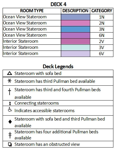 Majesty Of The Seas Deck 4 plan keys