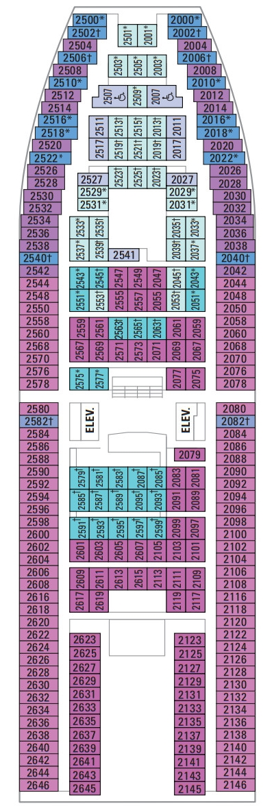 Majesty Of The Seas Deck 2 layout