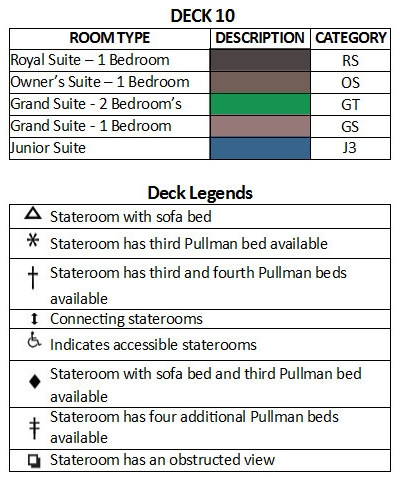 Majesty Of The Seas Deck 10 plan keys
