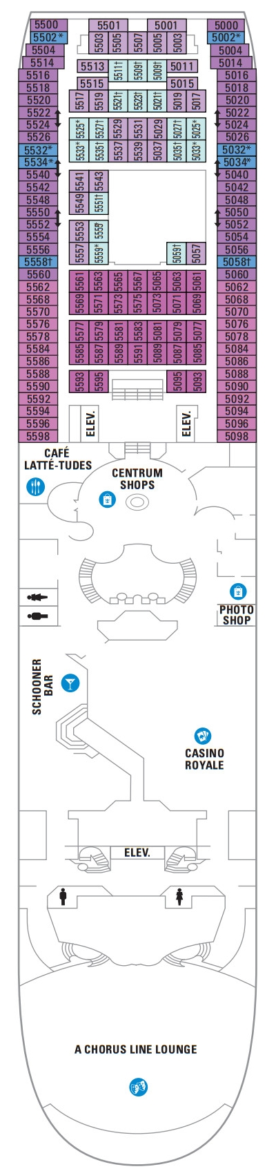 Majesty Of The Seas Deck 5 layout