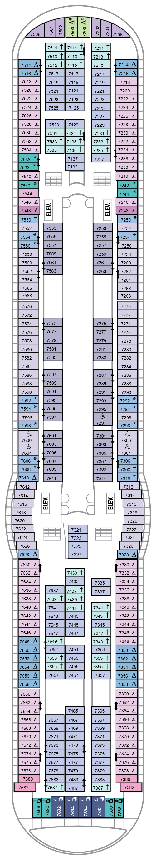 Mariner Of The Seas Deck 7 layout