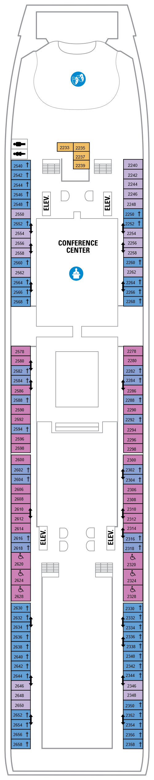 Mariner Of The Seas Deck 2 layout
