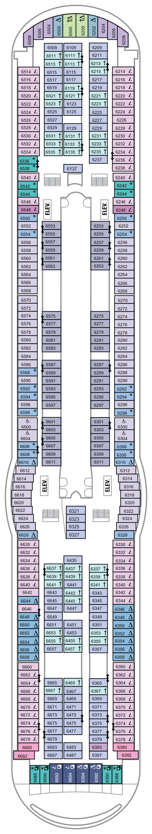 Mariner Of The Seas Deck 6 layout
