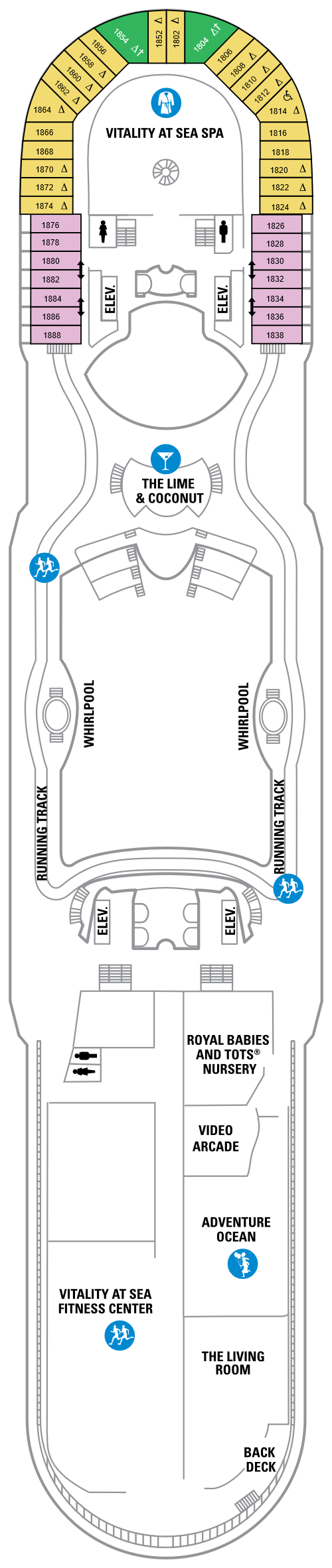 Navigator Of The Seas Deck 12 layout
