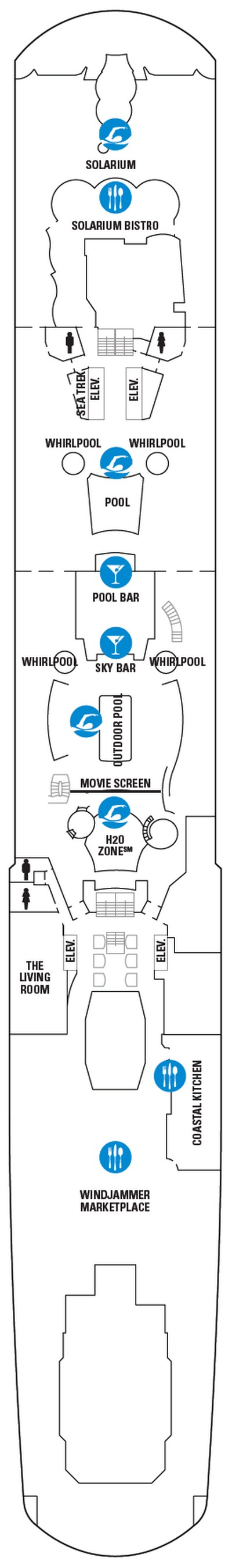 Ovation of the Seas Deck 14 layout