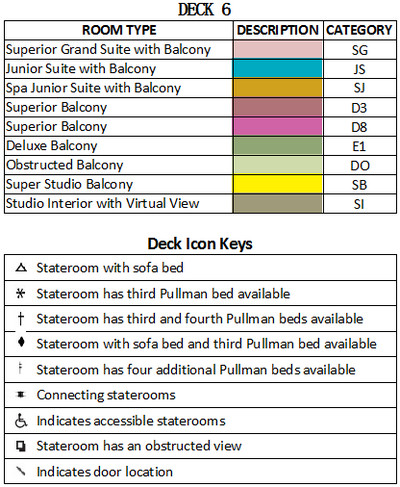 Ovation of the seas deckplan