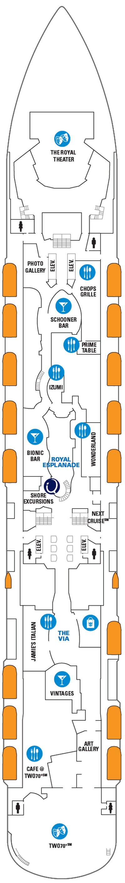 Ovation of the Seas Deck 5 layout