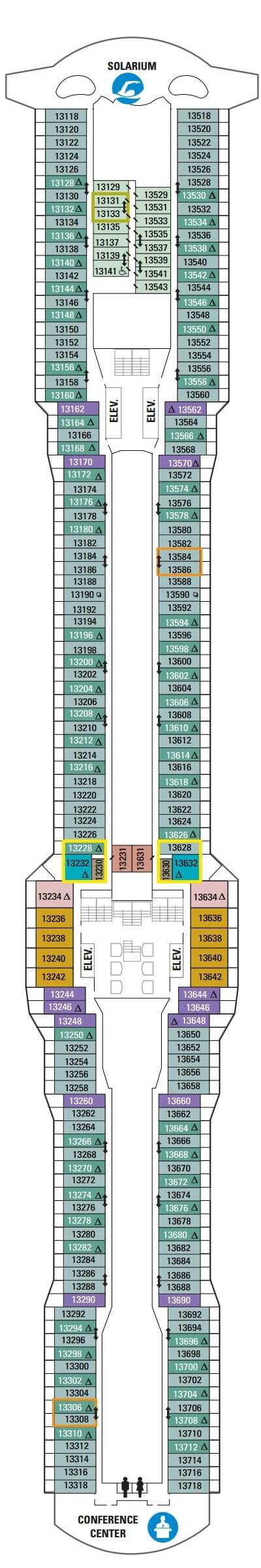 Ovation of the Seas Deck 13 layout