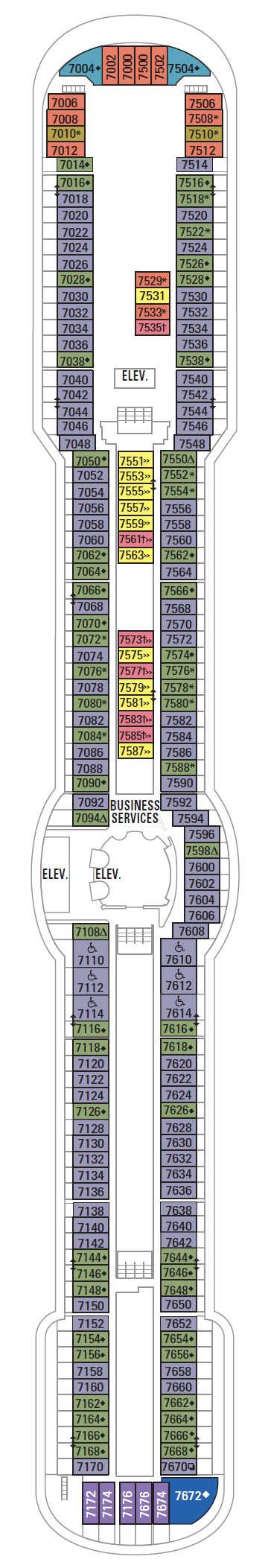 Radiance Of The Seas Deck 7 layout