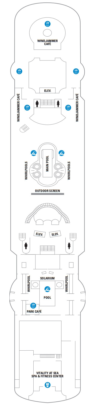 Rhapsody Of The Seas Deck 9 layout