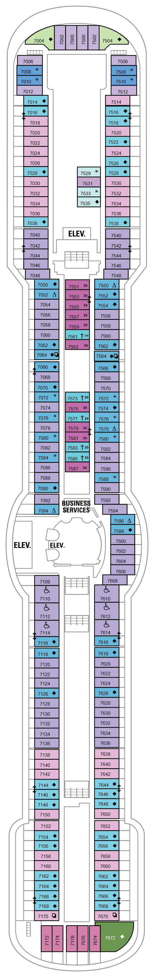 Serenade Of The Seas Deck 7 layout