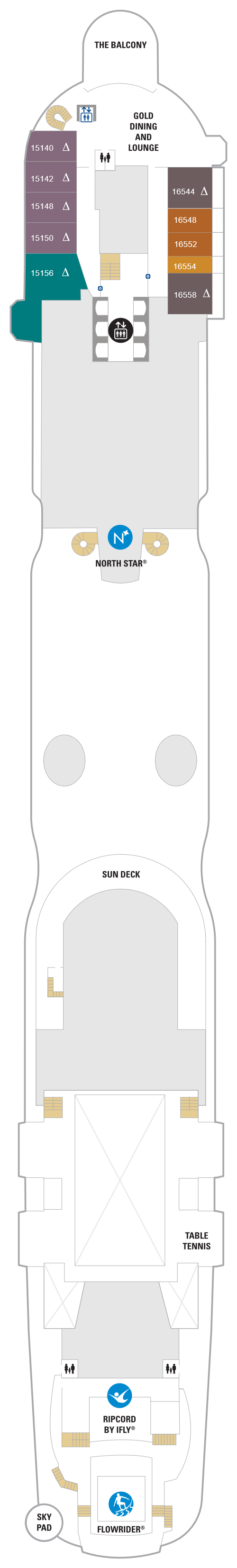 Spectrum Of The Seas Deck 16 layout