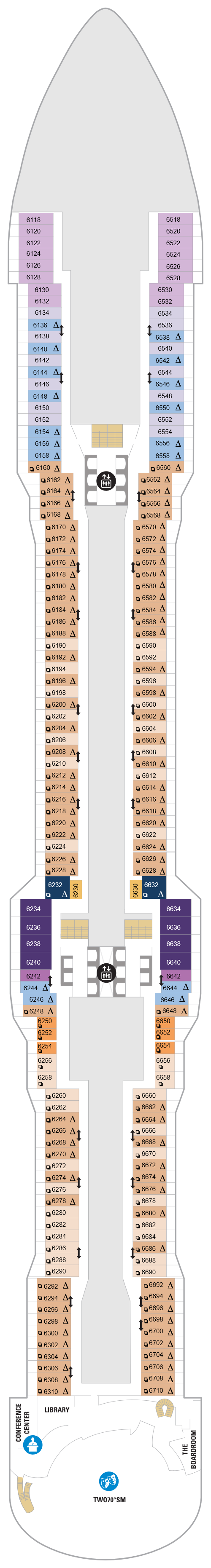 Spectrum Of The Seas Deck 6 layout