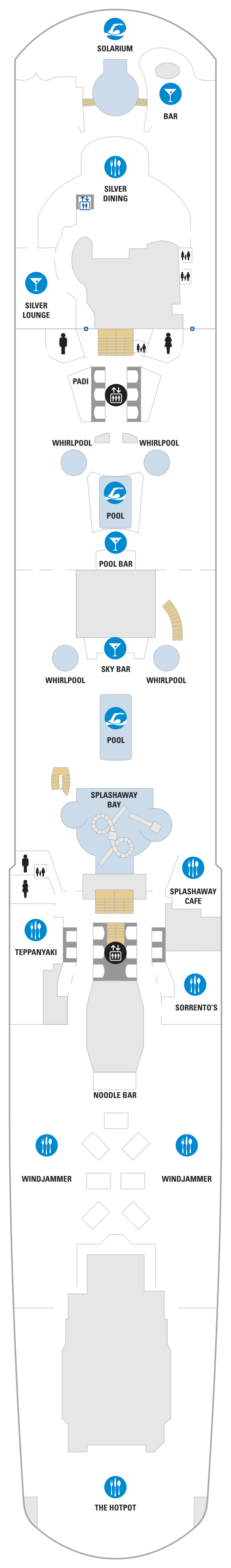 Spectrum Of The Seas Deck 14 layout
