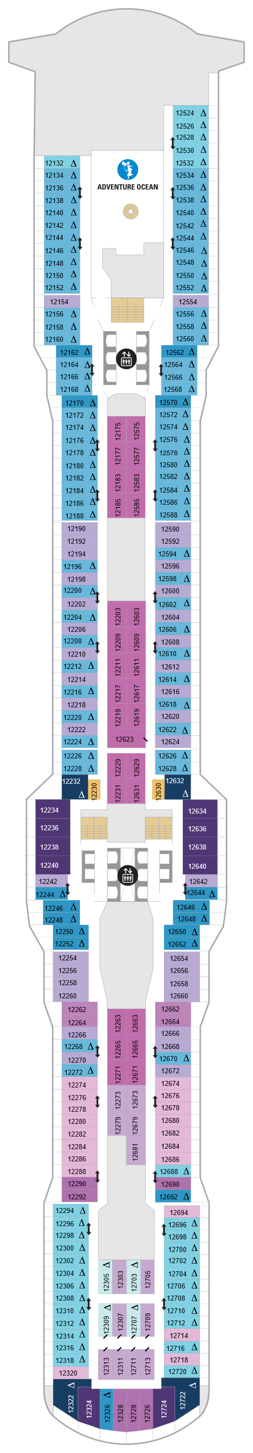 Spectrum Of The Seas Deck 12 layout