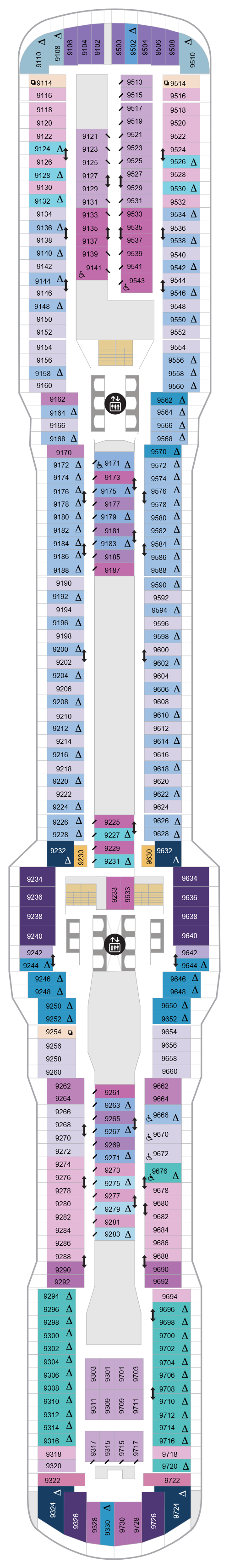Spectrum Of The Seas Deck 9 layout