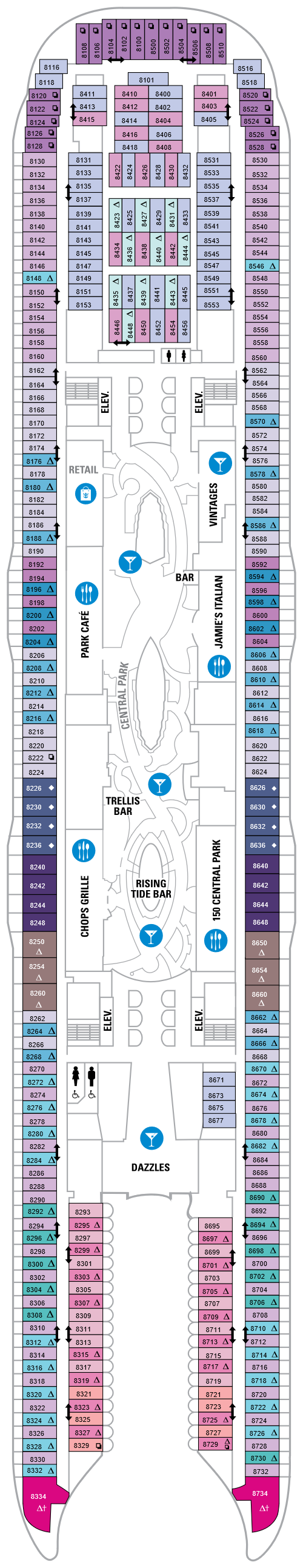 Symphony Of The Seas Deck 8 layout