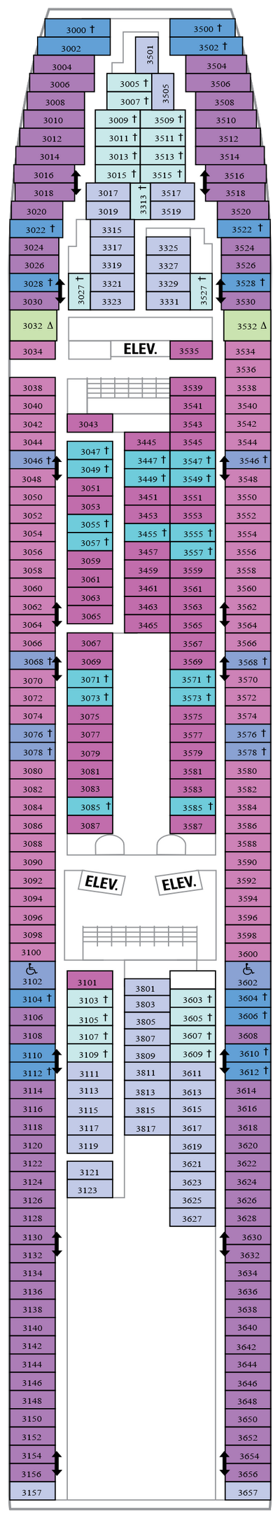 Vision Of The Seas Deck 3 layout