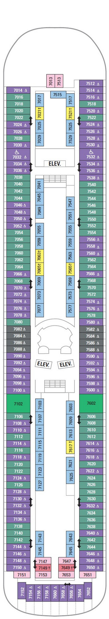 Vision Of The Seas Deck 7 layout