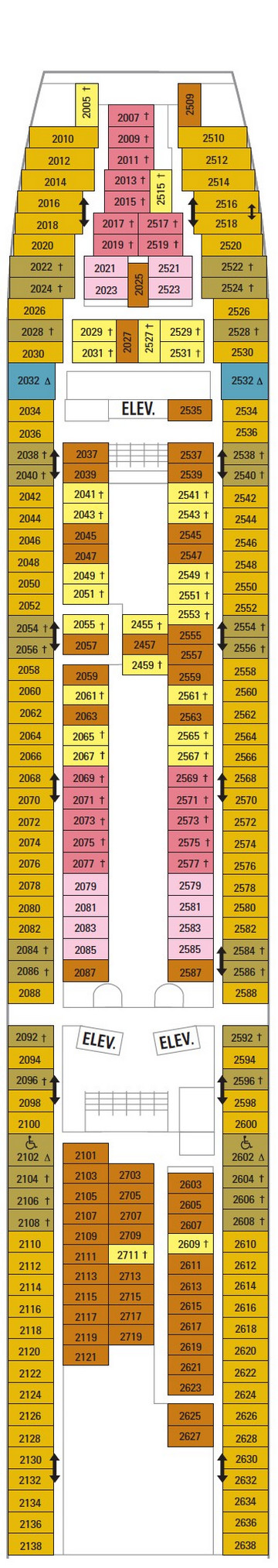 Vision Of The Seas Deck 2 layout