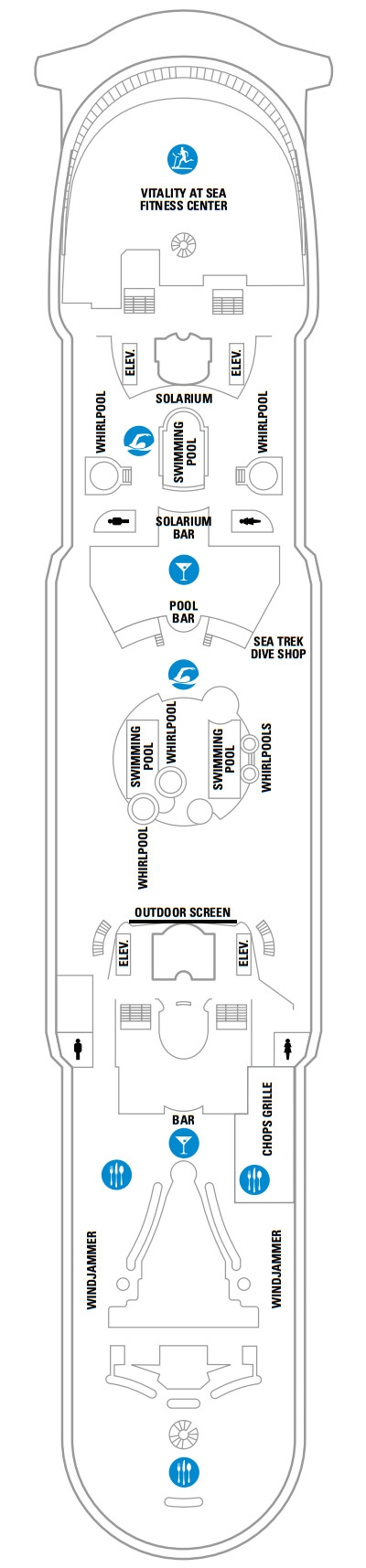 Voyager Of The Seas Deck 11 layout