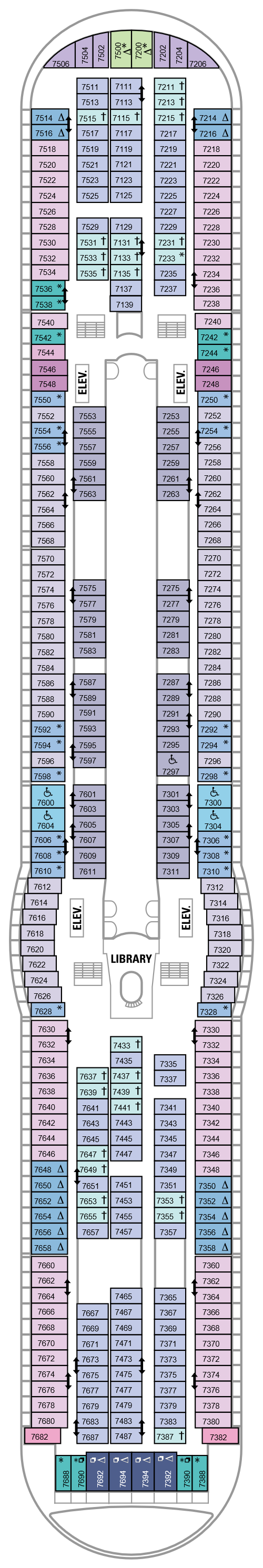 Voyager Of The Seas Deck 7 layout