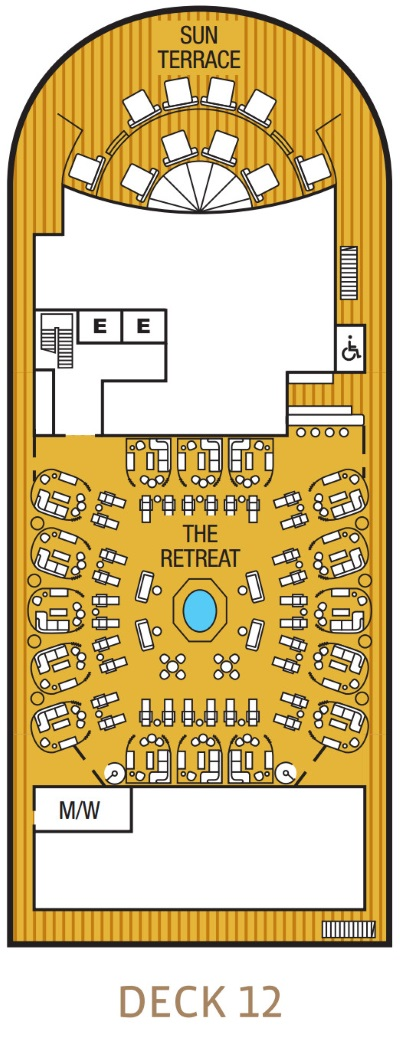 Seabourn Encore Deck 12 layout