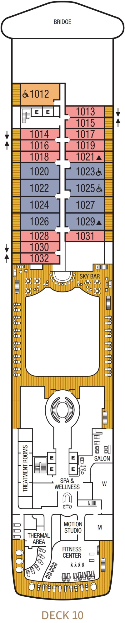 Seabourn Encore Deck 10 layout