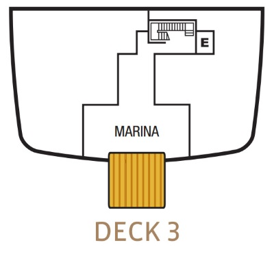 Seabourn Encore Deck 3 layout