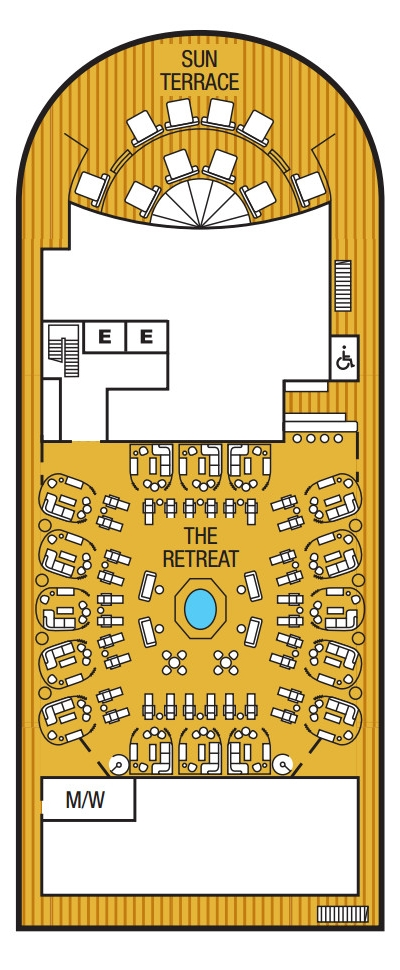Seabourn Ovation Deck 12 layout