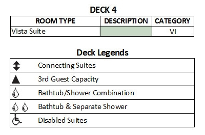 Silver Cloud Expedition Deck 4 plan keys