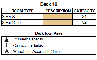 Silver Muse Deck 10 plan keys