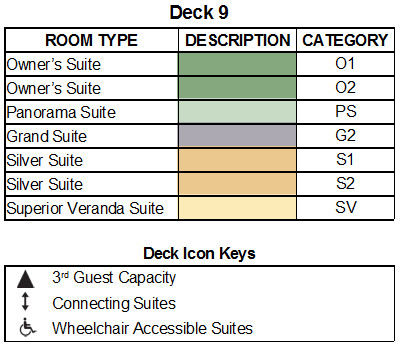 Silver Muse Deck 9 plan keys