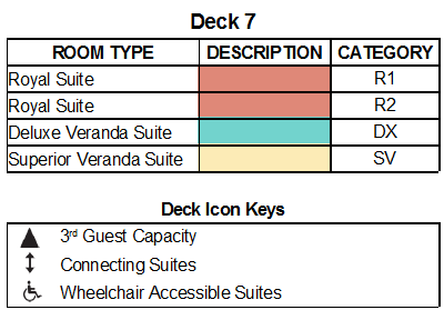 Silver Muse Deck 7 plan keys