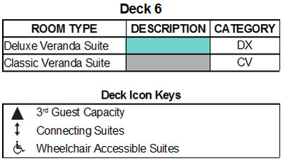 Silver Muse Deck 6 plan keys