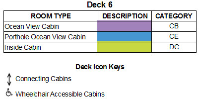 SuperStar Gemini Deck 6 plan keys