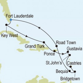 Fort Lauderdale Florida to Fort Lauderdale Florida Itinerary
