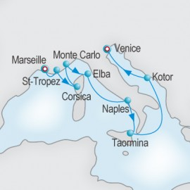 Riviera and Adriatic Reflections Itinerary