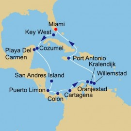 Coast Rica Canal and ABCS Voyage Itinerary