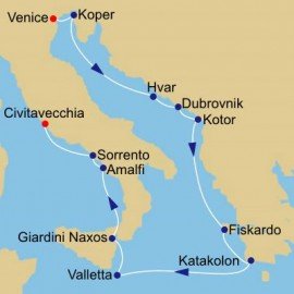 Adriatic to Amalfi Coast Itinerary